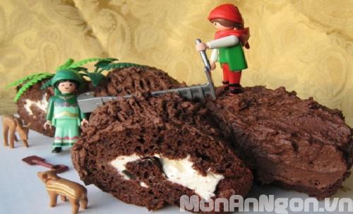 Cách làm bánh khúc cây đón giáng sinh