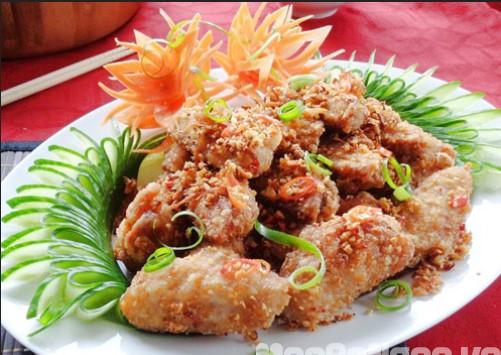 Cách làm món cánh gà chiên ớt tỏi
